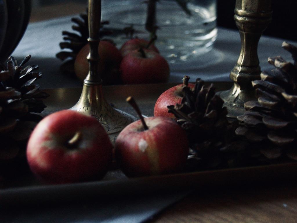 Äpfel-Herbstdeko